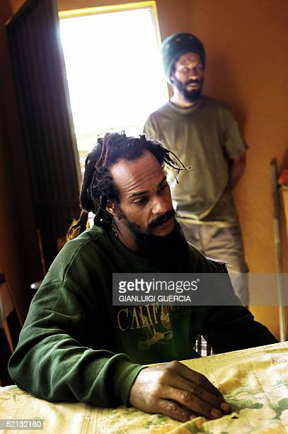 Roger Dellvie from the French West Indies island Martinique whose rastafarian name is Soljah Selassie stays 04 February 2005 in his house in the...