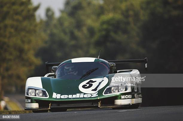 Roger Dorchy of France drives the WM Secateva WM P489 Peugeot V6 Turbo during practice for the FIA World Sportscar Championship 24 Hours of Le Mans...