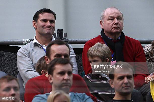 Roger Draper CEO of the LTA looks on during day three of the Davis Cup Tennis match between Ricardas Berankis of Lithuania of Lithuania and James...