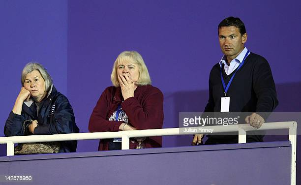 Roger Draper Chief Executive of the LTA looks on during day three of the Davis Cup match between Great Britain and Belgium at the Braehead Arena on...