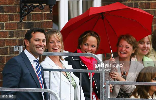 Roger Draper the LTA Chief Executive watches the action on Day 4 of the Artois Championships at Queen's Club on June 12 2008 in London England