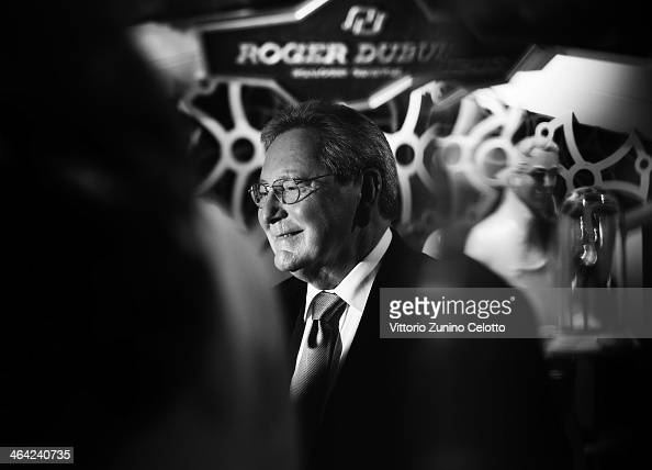 Roger Dubuis gives an interview during Roger Dubuis at the SIHH 2014 day 2 on January 21 2014 in Geneva Switzerland