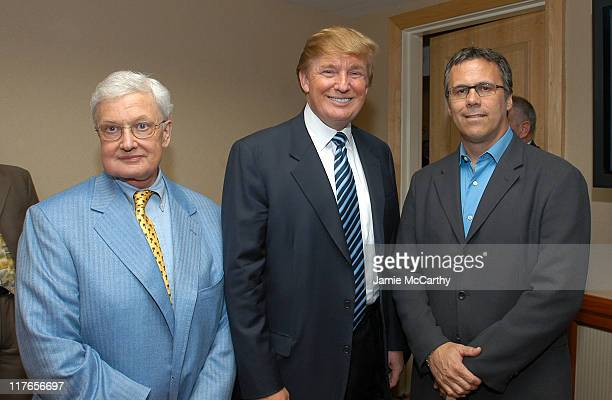 Roger Ebert Donald Trump and Richard Roeper during Backstage Creations Retreat at The Promax BDA ConferenceDay 1 at Hilton New York in New York City...