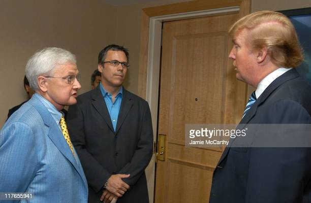 Roger Ebert Richard Roeper and Donald Trump during Backstage Creations Retreat at The Promax BDA ConferenceDay 1 at Hilton New York in New York City...