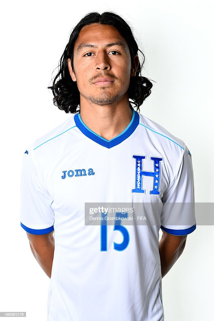 Roger Espinoza of Honduras poses during the Official FIFA World Cup 2014 portrait session on June 10, 2014 in Porto Feliz, Brazil.