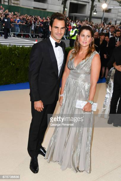 Roger Federer and Mirka Federer attend the 'Rei Kawakubo/Comme des Garcons Art Of The InBetween' Costume Institute Gala at Metropolitan Museum of Art...