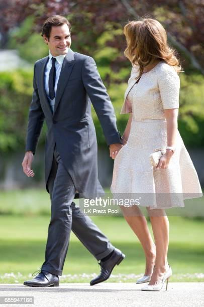 mirka federer. roger federer and mirka attend the wedding of pippa middleton james matthews at st
