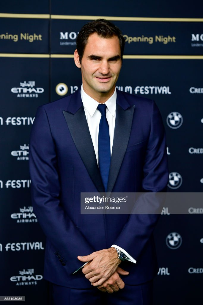 Roger Federer attends the opening ceremony and 'Borg vs. McEnroe' premiere at the 13th Zurich Film Festival on September 28, 2017 in Zurich, Switzerland. The Zurich Film Festival 2017 will take place from September 28 until October 8.