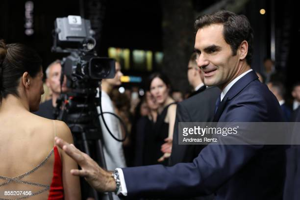 Roger Federer attends the opening ceremony and 'Borg vs McEnroe' premiere at the 13th Zurich Film Festival on September 28 2017 in Zurich Switzerland...