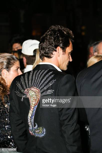 Roger Federer attends the Rei Kawakubo/Comme des Garcons Art Of The InBetween' Costume Institute Gala After Party at The Standard on May 1 2017 in...