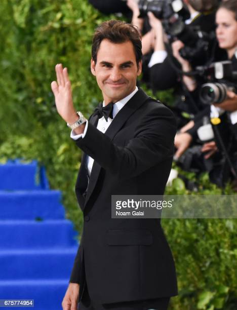 Roger Federer attends the 'Rei Kawakubo/Comme des Garcons Art Of The InBetween' Costume Institute Gala at Metropolitan Museum of Art on May 1 2017 in...