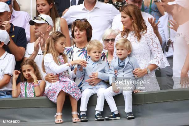 Roger Federer's wifeMirka Federerand theirfour children identical twin daughtersMyla andCharlene and identical 3yearold twinsonsLeoandLenny...