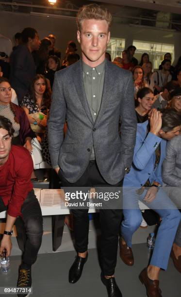 Roger Frampton attends the Christopher Raeburn show during the London Fashion Week Men's June 2017 collections on June 11 2017 in London England