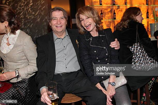 Roger Fritz and Margit Friedrich attend the 'Art Food' cocktail at Ella restaurant at Lenbachhaus on March 10 2014 in Munich Germany