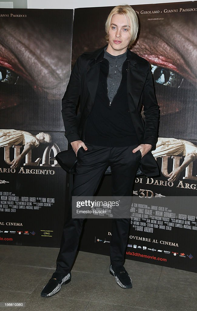 Roger Garth attends the 'Dracula in 3D' premiere at Cinema Barberini on November 21, 2012 in Rome, Italy.