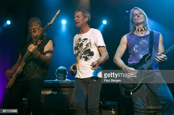 Roger Glover and Ian Gillan and Steve Morse of British rockband Deep Purple perform on stage at Heineken Music Hall on November 17 2009 in Amsterdam...