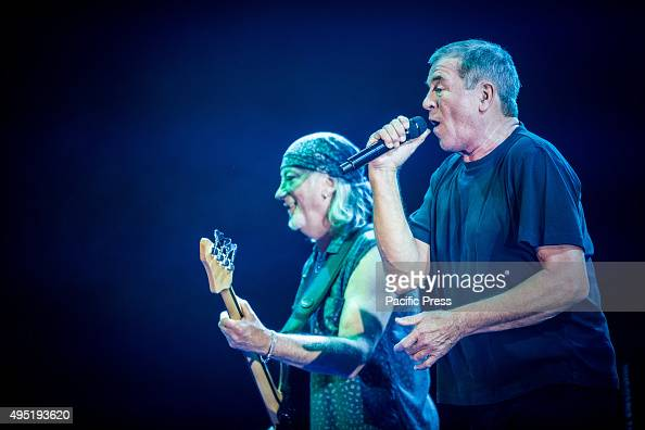 Roger Glover and Ian Gillan of Deep Purple perform live at Mediolanum Forum Deep Purple are an English rock band formed in Hertford in 1968 They are...