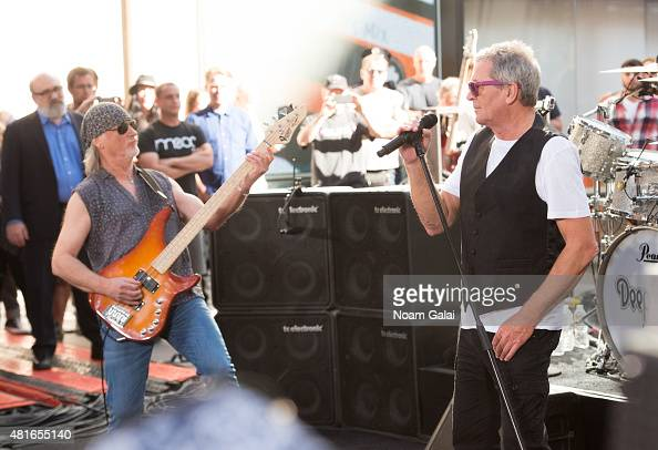Roger Glover and Ian Gillan of Deep Purple perform on NBC's 'Today' at Rockefeller Plaza on July 23 2015 in New York City
