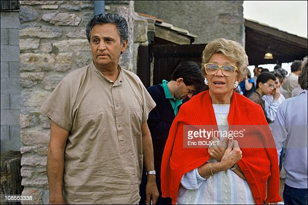 Roger Hanin and his wife Christine GouzeRenal in Solutre France on May 18th 1986