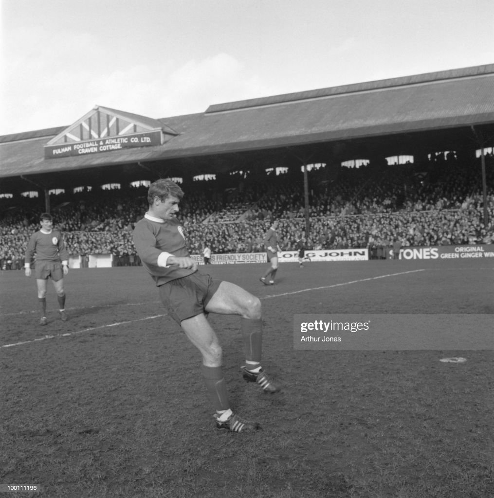 Roger Hunt of Liverpool in play during a match against Fulham at Craven Cottage, London, 26th February 1966.