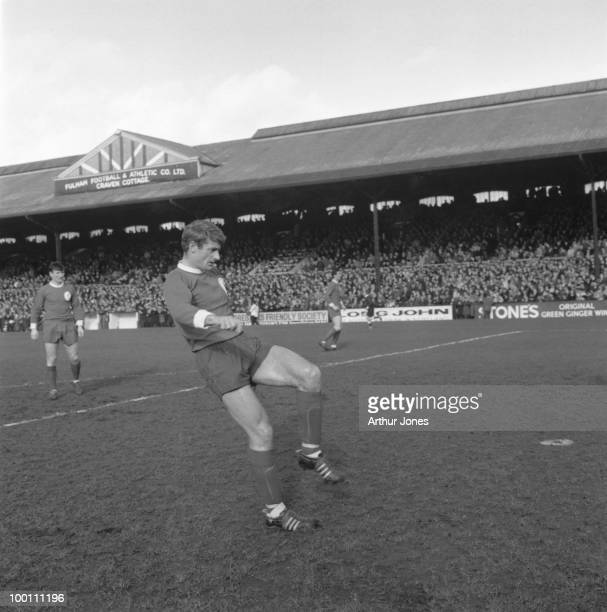 Roger Hunt of Liverpool in play during a match against Fulham at Craven Cottage London 26th February 1966