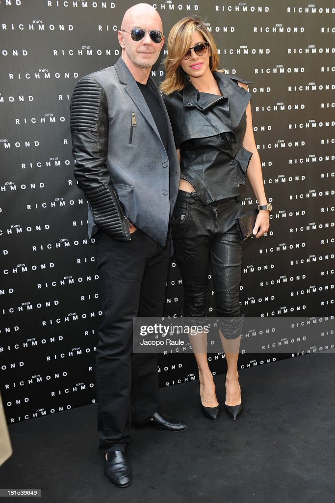 Roger Jenkins and Aida Yespica attend John Richmond during Milan Fashion Week Womenswear Spring/Summer 2014 on September 22, 2013 in Milan, Italy.