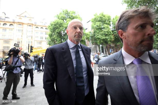 Roger Jenkins former chairman of investment banking for the Middle East at Barclays Plc center arrives at Westminster Magistrates' Court in London UK...