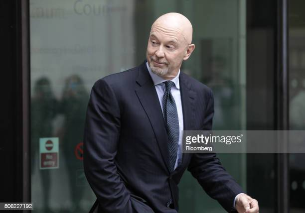 Roger Jenkins former chairman of investment banking for the Middle East at Barclays Plc departs Westminster Magistrates' Court in London UK on Monday...