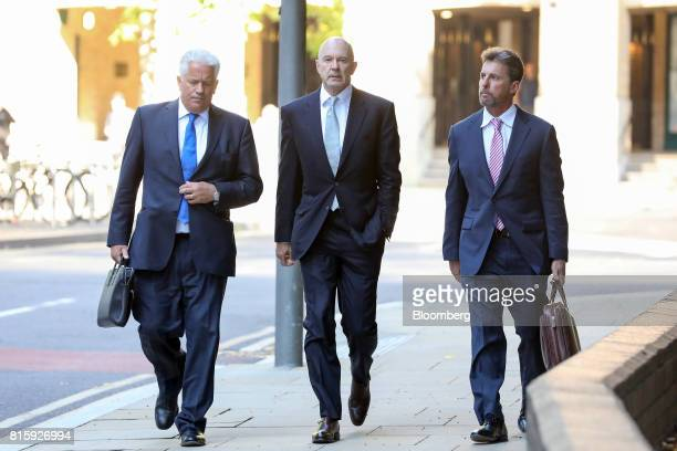 Roger Jenkins former chairman of investment banking for the Middle East at Barclays Plc centre arrives at Southwark Crown Court in London UK on...
