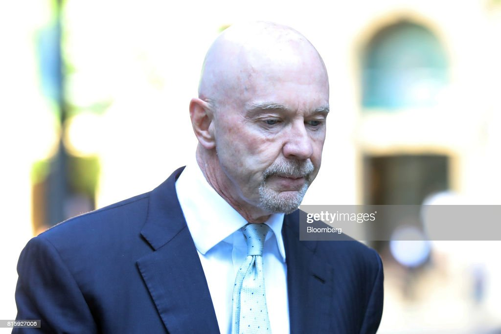 Roger Jenkins, former chairman of investment banking for the Middle East at Barclays Plc, arrives at Southwark Crown Court in London, U.K., on Monday, July 17, 2017. Jenkins, along with three formerBarclays Plcexecutives will stand trial on allegations they conspired to commit fraud over the bank's 2008 fundraising with Qatar in 2019, a London judge ruled. Photographer: Chris Ratcliffe/Bloomberg via Getty Images