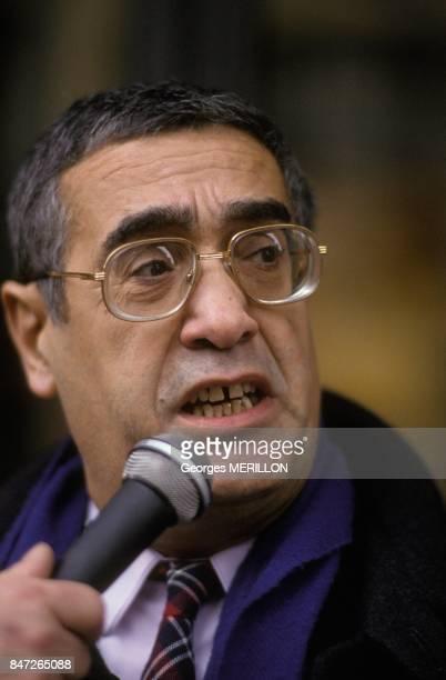 Roger Lancry general secretary of 'Syndicat du Livre' on December 21 1989 in Paris France