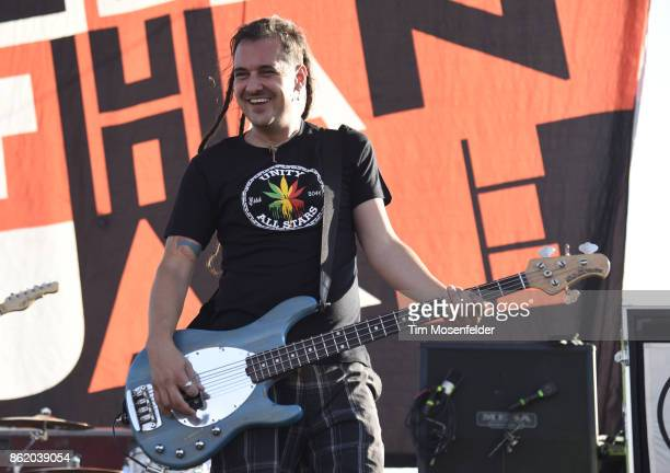 Roger Lima of Less than Jake performs during the Punk In Drublic Craft Beer And Music Festival at California Exposition on October 15 2017 in...