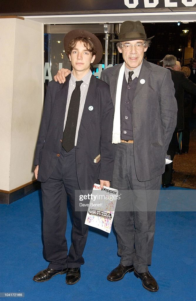 Roger Lloyd Pack And Son, 'Master And Commander: The Far Side Of The World' Royal Premiere At The Odeon Leicester Square, London