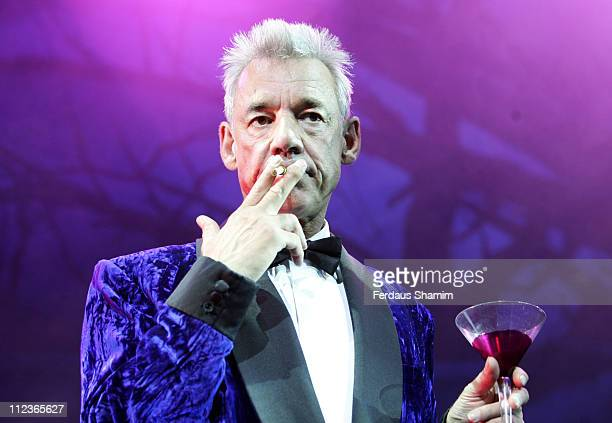 Roger Lloyd Pack during 'The Rocky Horror Show' Press Photocall at Wimbledon Theatre in London Great Britain