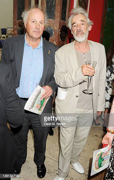 Roger LloydPack and guest attend 'A Celebration Of The Arts' at Royal Academy of Arts on May 23 2012 in London England