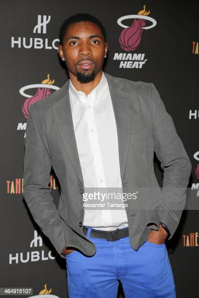 Roger Mason Jr attends the Miami Heat Family Foundation TaHEATi Beach Fundraising Event brought to you by Hublot on January 24 2014 in Coral Gables...