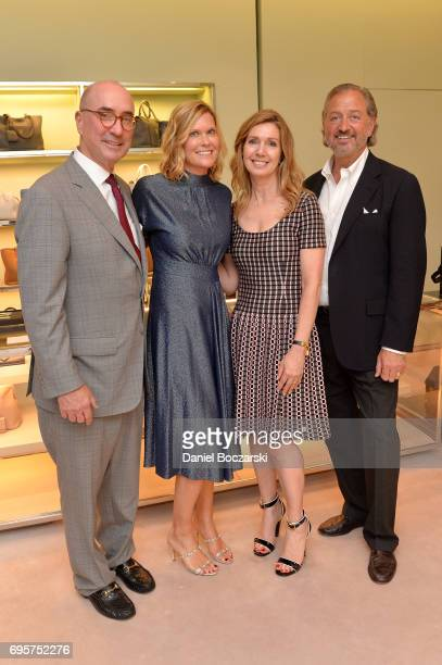 Roger McEniry Karen Riley McEniry Cindy Chereskin and John Fornengo attend Prada Chicago x University Of Chicago Cancer Research Foundation Event at...