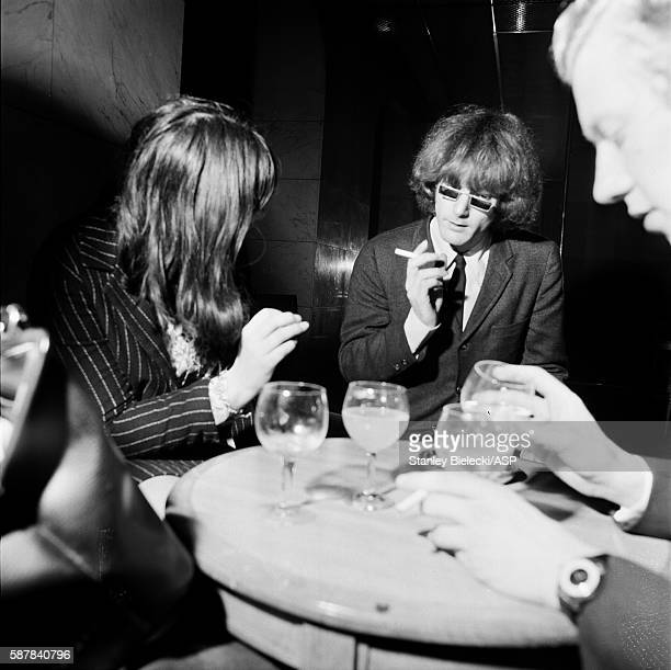 Roger McGuinn of The Byrds is interviewed at a London hotel 1965