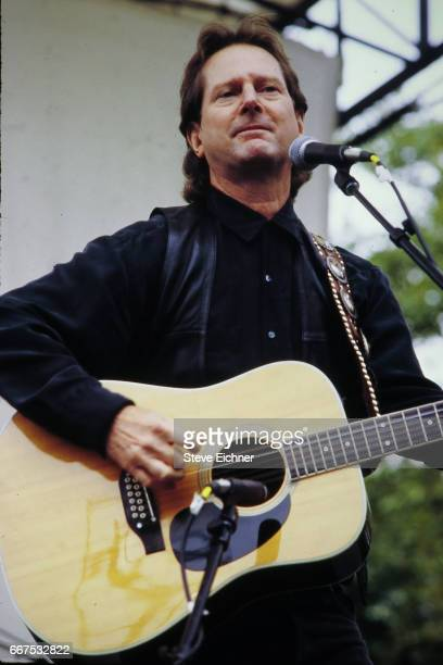 Roger McGuinn of the Byrds performs at Central Park Summerstage New York New York October 4 1992