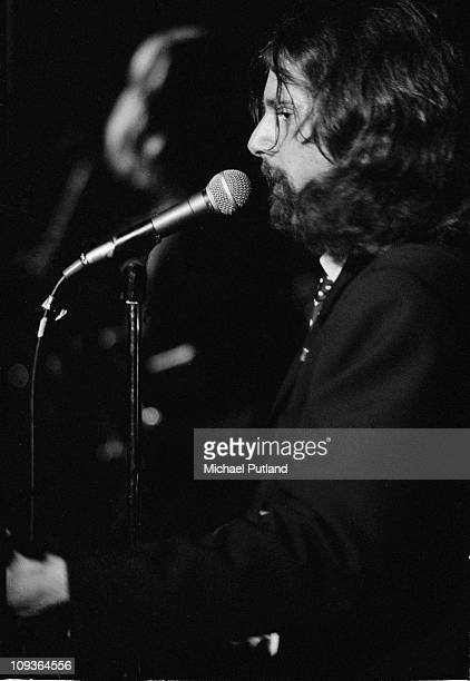 Roger McGuinn of The Byrds performs on atge at Colston Hall Bristol 3rd May 1971