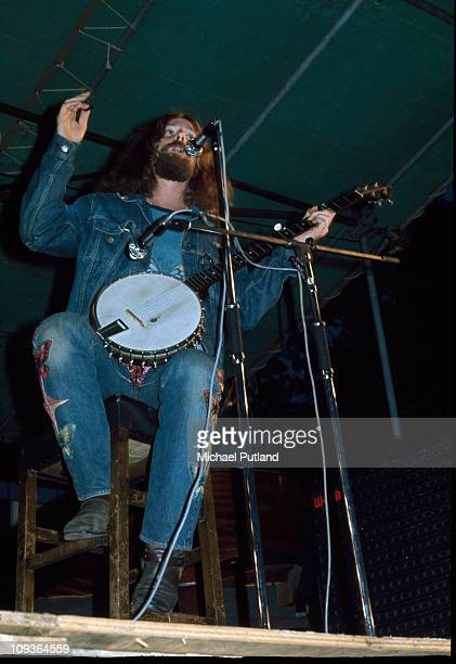 Roger McGuinn of The Byrds performs on stage at Lincoln Festival 24th July 1971
