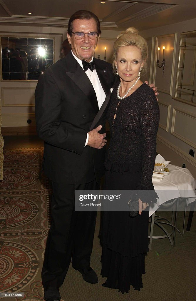 Roger Moore And Christina Tholstrup, The Evening Standard Film Awards, At The Savoy Hotel In London
