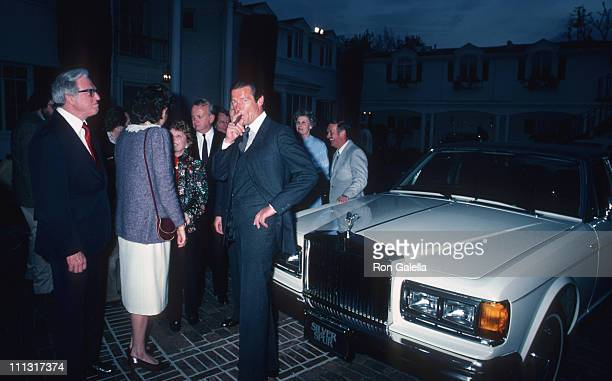 Roger Moore and guests during Rolls Royce Unveils New Cars Gala at Sidney Sheldon's Beverly Hills Home in Bevery Hills California United States