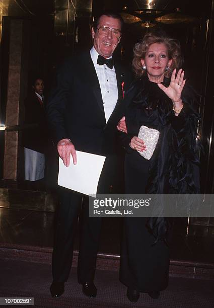 Roger Moore and Luisa Moore during Roger Moore Sighted at Peninsula Hotel at Peninsula Hotel in New York City New York United States