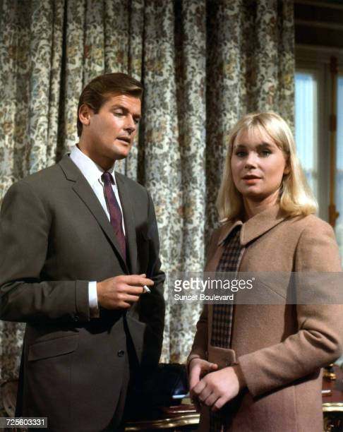 Roger Moore and Penelope Horner in 'The Russian Prisoner' an episode in the TV series 'The Saint' October 1966