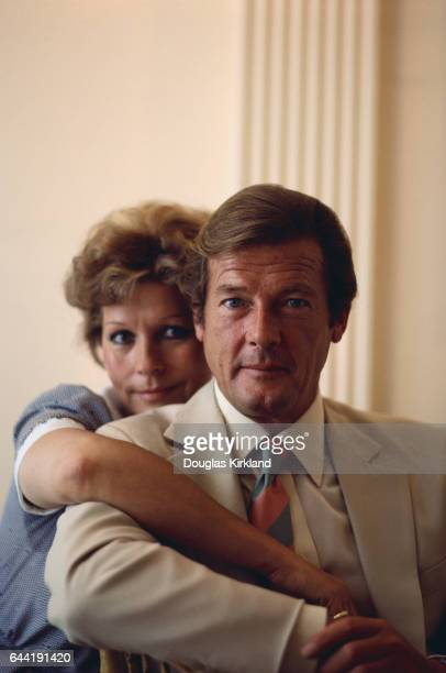 Roger Moore and Wife Luisa Mattioli