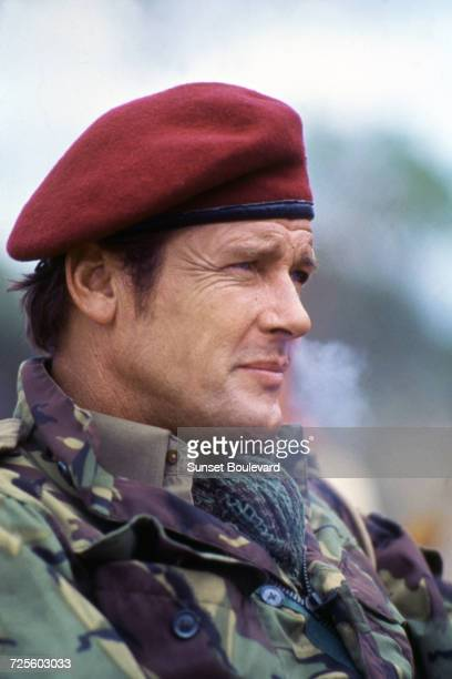 Roger Moore in 'The Wild Geese' directed by Andrew V McLaglen South Africa 1978