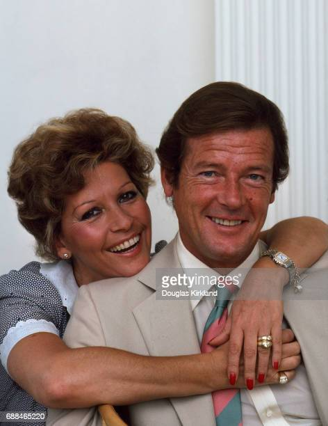 Roger Moore with his third wife Luisa Mattioli New York 16th June 1981