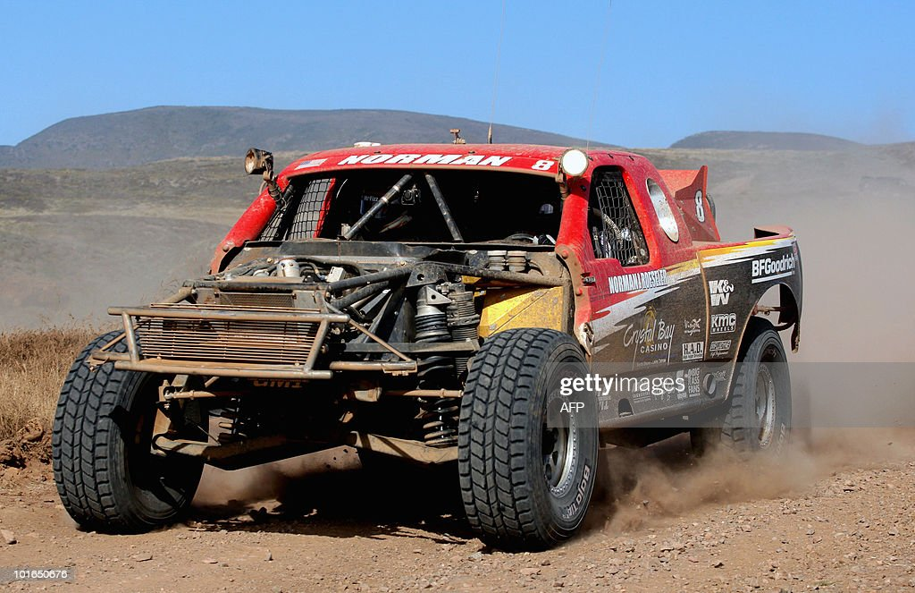 US Roger Norman drives his Chevy C1500 during the first day of the Baja 500 rally, in Baja California State, Mexico, on June 5, 2010. AFP PHOTO/Jesus Alcazar