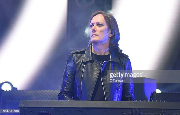 Roger O'Donnell of The Cure performs at Shoreline Amphitheatre on May 26 2016 in Mountain View California